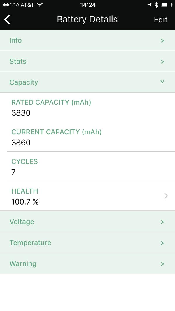 Battery Health & Aircraft Stats